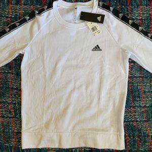 Adidas White Crewneck Sweater